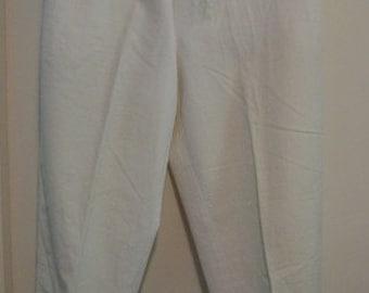 Vintage Comme Des Garcons 1980s White Twill Pant