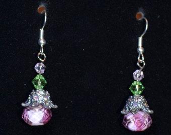 Gorgeous flower drop earrings