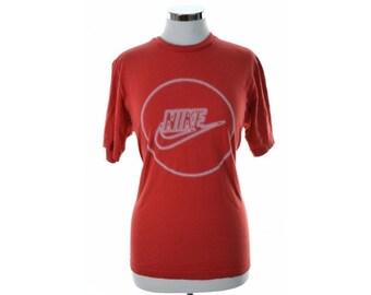 Nike Womens T-Shirt Medium Red Organic Cotton