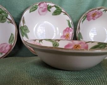 Desert Rose Coupe Cereal Bowls - set of 4