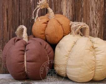 Handmade Set of 3 Pumpkins