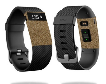 Skin Decal Wrap for Fitbit Blaze, Charge, Charge HR, Surge Watch cover sticker Sandalwood Leather