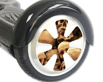 Skin Decal Wrap for Hoverboard Balance Board Scooter Wheels Skull Pile