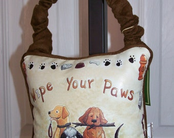 Wipe Your Paws Hanging Pillow