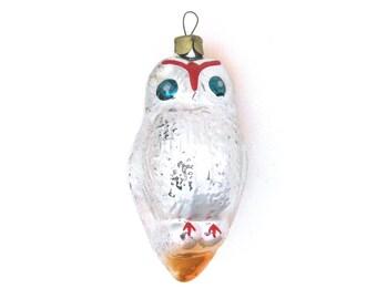 Owl, Soviet Christmas tree decoration, Owl, Bird, Animal, Rare Glass Christmas ornament, New Year, Russian Toy, USSR, Soviet Union, 1960s