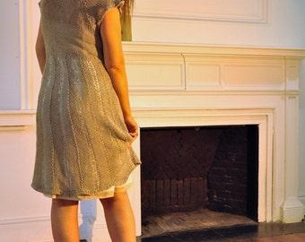 Curtom order dress, linen dress, hand knitted dress, summer dress, beach dress
