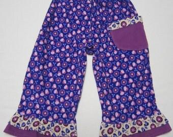 Purple Cotton Corduroy Ruffle Pants in Sizes 2  3  4  5