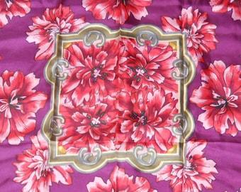 Vintage floral silk scarf