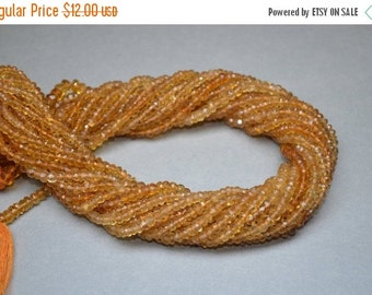 10% Off AA Faceted Citrine Bead Strands