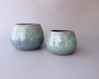 Serving Bowl , Ceramic Bowl , Handmade pottery , Blue , Green, nibble bowl, bowl set,Stoneware,housewarming gift,