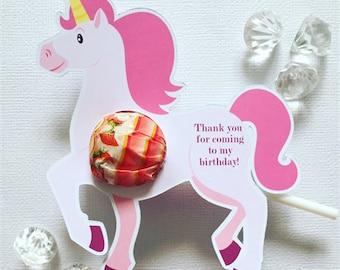 Unicorn lollipop holders