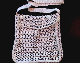 Crochet Soda Pop Can Vintage Bag, Hand-Made, Retro Fashion