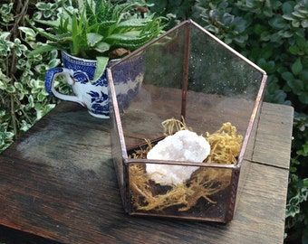 Lavender Stained Glass Terrarium