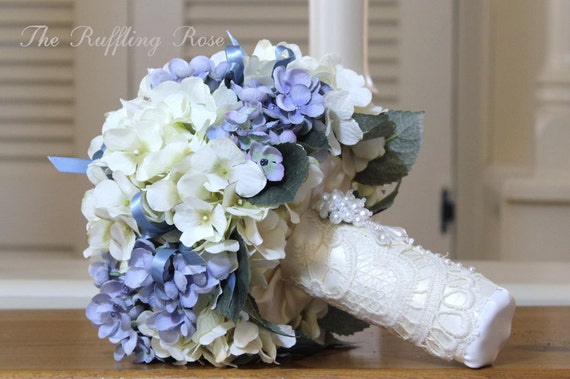 Wedding Package Silk ...blue and ivory...bride...bridesmaid...may be custom ordered
