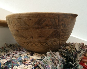 Wooden Bowl from Morocco - Moroccan vintage wooden Bowl