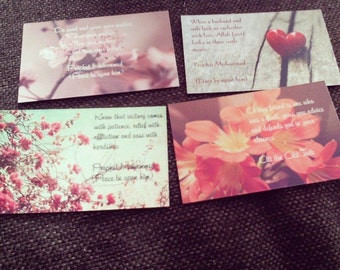 Personalised hadith card sister mother friend husband muslim