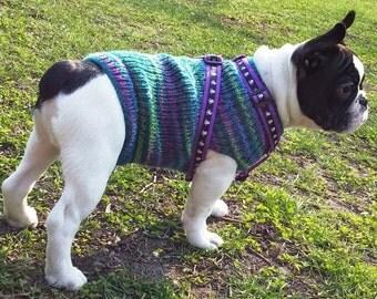 Dog Sweater - Hand Knit dog sweater - Custom made dog sweater - - handmade dog clothing - made for your dog