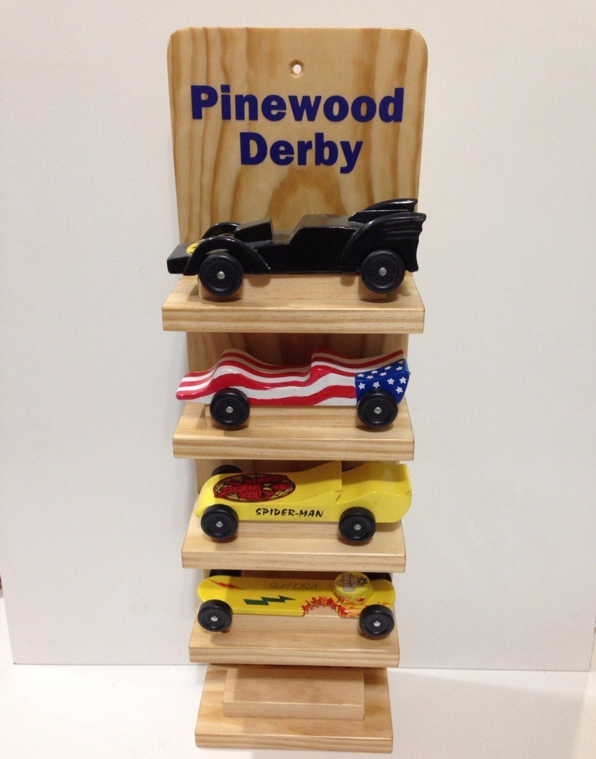 Pinewood Derby Car Five Shelf Display Cubscout Girlscout