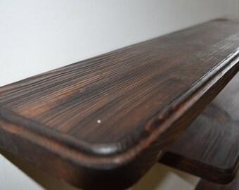 "35 "" Floating Shelf Reclaimed Wood / Rustic Floating Shelves /"
