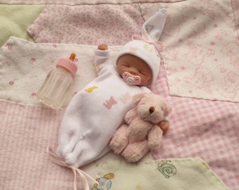"Sale  Limited Time Only   Ooak Custom Made Mystery  3-4"" Parital Sculpt Newborn Baby SALE*"