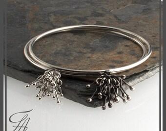 Round Band Bracelet Silver Bangle Bangle Bracelet Silver Bracelet Handmade Bracelet Modern bracelet,Gift bracelet,Chunky Bangle,Modern