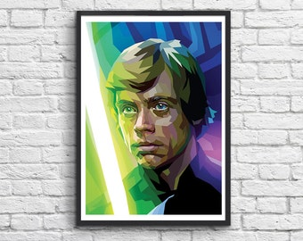 Art-Poster 50 x 70 cm - Luke Skywalker Polygones