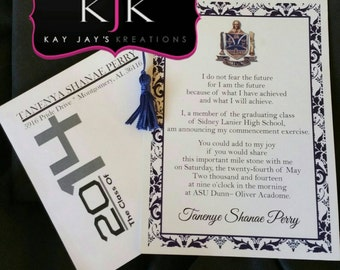Personalized Graduation Invitations with Envelopes