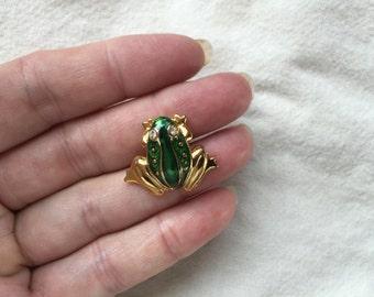 Enamel Frog Pin -- 403