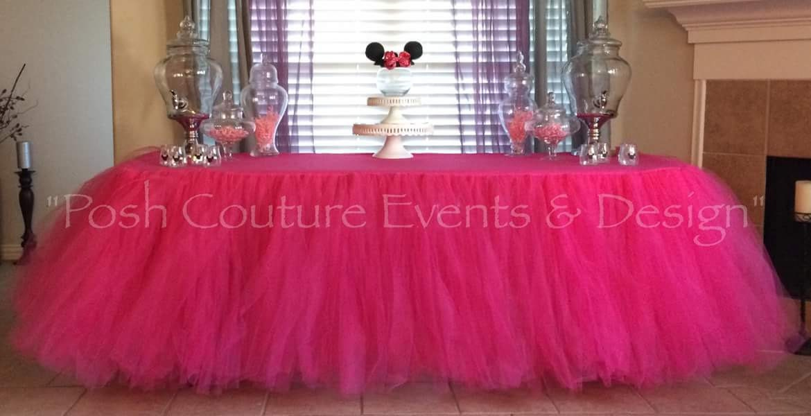 Table Skirting Designs Tulle Table Cloth Elegant Table Skirt Party Table  Tulle