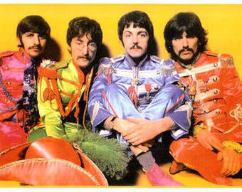 The Beatles Poster 1967 Sgt Pepper - Ships FREE