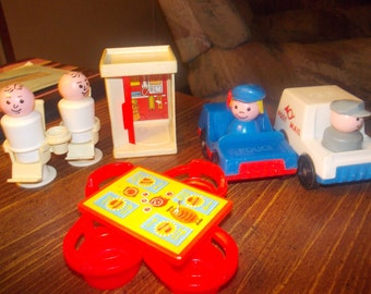 vintage fisher price little people village parts