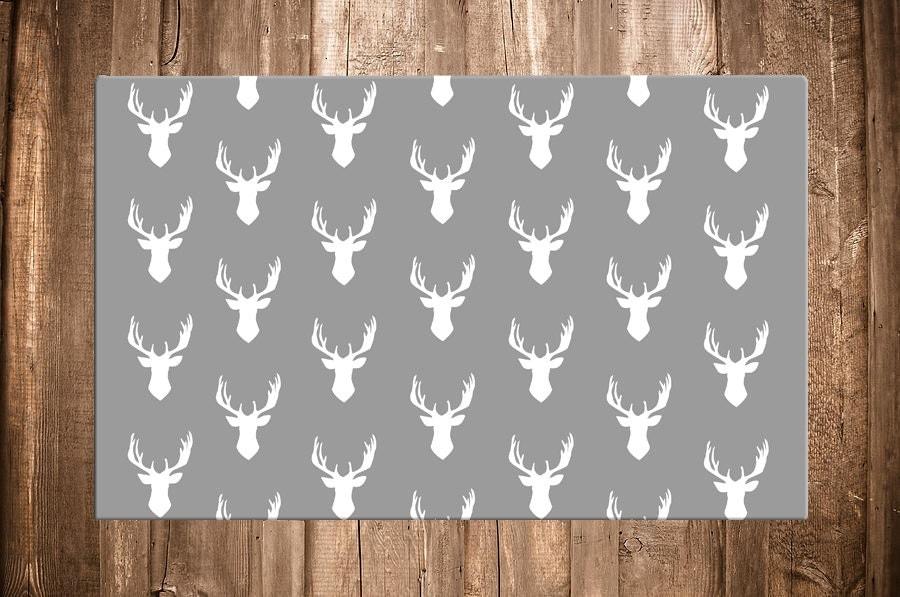 Deer Rug Woodland Nursery Decor Antlers Rug By