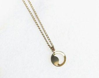 Necklace Moon Gold Pendant / Goldfilled 18K / BAMBI Boutique / JN14