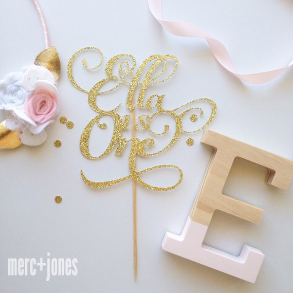 Milestone Birthday | Age + Name Gold or Silver Glitter Cake Topper