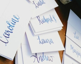 Custom Wedding Place Card Calligraphy