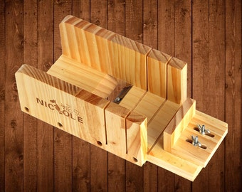 Adjustable Loaf Soap Cutter Tools Wooden Box With Blade Soap Making Cold Process NK-2