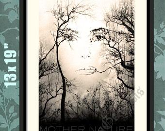 Mother Nature, Mother Nature Print, Mother Nature Art, Mother Nature Poster, Mother Nature Decor, Nature Wall Art, Forest Print, Forest Art