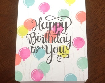 Birthday Card, Handmade Greeting Card