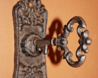 """12% OFF 6) pcs, Vintage-look tie backs, old fashioned curtain tie backs, cast iron Victorian tie backs,free shipping, 6"""", paintable, HW-04"""