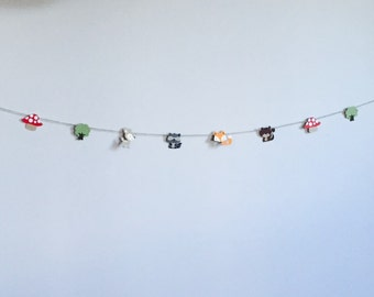 Handmade Garland - Woodland Theme Birthday Baby Shower