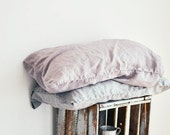 FREE SHIPPING. Set of 2 light elephant grey or ashes of rose linen  pillowcase