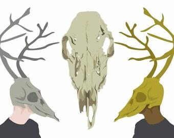 "Ivory Doe Trio 8""x10"" Print"