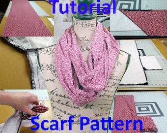 TUTORIAL Pattern II: Infinity Scarf With Hidden Zipper Pocket PDF