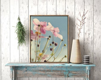 Pastel Blossom Photograph, Flower Photo, Instant Download, Digital File, Printable Art, No. 26
