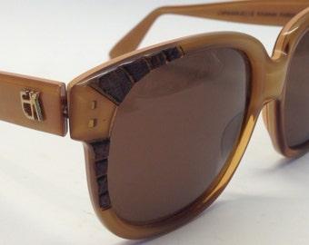 Vintage Emmanuelle Khanh sunglasses 80's oversized snake EK 8380