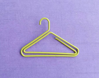 Yellow clothes hanger paperclip