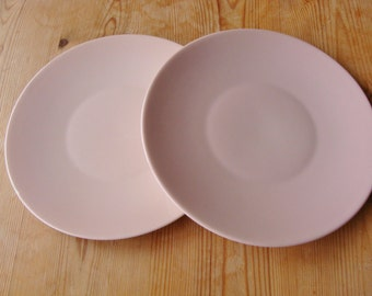 Vintage Branksome China Baby Pink Side Plates x2