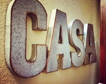 On Sale 1 Galvanized Metal Letter, One Large 20 inch letter, vintage, distressed finish, choose your letter