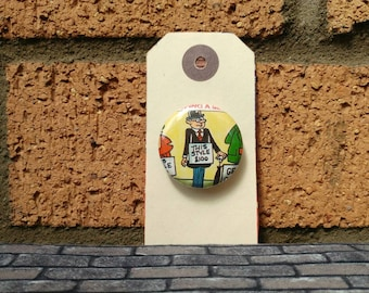 Vintage Comic Badge