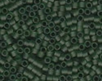 MIYUKI #11 Delica 1267 - Matte Transparent Olive - 5 grams